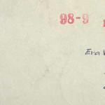 Obálka dopisu kamarádce Evě, studentce Gymnázia v Šumperku