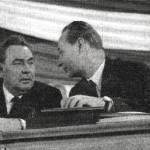 Leonid Brežněv a Alexander Dubček, 20. výročí Února, Praha 1968
