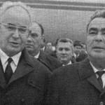 Gustáv Husák vítá Leonida Brežněva, květen 1970