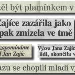 Výběr titulků z novin po roce 1989