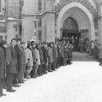 Záběry z pohřbu ve Vítkově v neděli 2. 3. 1969