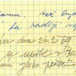 Písemka, kterou Jan psal pouhý den před svým činem